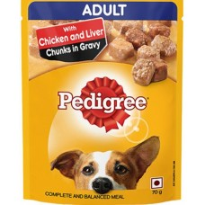 Pedigree Adult Chicken&Liver Chunks In Gravy