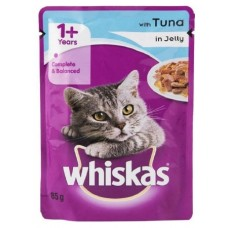 Whiskas Wet Cat Food - Tuna In Jelly, For Adult Cats, +1 Year, 85 g