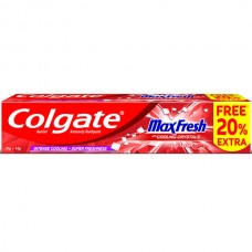 Colgate MaxFresh Anticavity Red Gel Toothpaste, Spicy Fresh (Free 20% Extra) 70 g