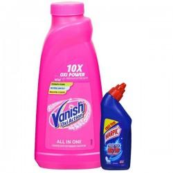 Vanish Oxi Action Liquid Fabric Stain Remover (Free Harpic Toilet Cleaner 200 ml) 800 ml