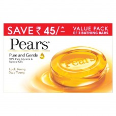 Pears Pure & Gentle Bathing Bar 125 g (Pack of 3)