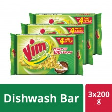 Vim Dishwash Bar 3x200 g