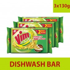 Vim Dishwash Bar, 3x100 g