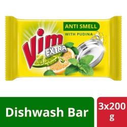 Vim Anti Smell Bar 200 g (Pack of 3)