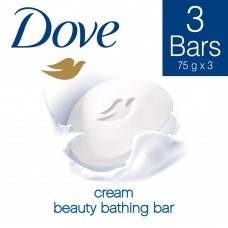 Dove Cream Beauty Bathing Bar 3x75g