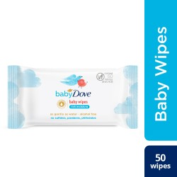 Baby Dove Rich Moisture Baby Wipes 50 Pcs