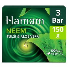 Hamam Neem Tulsi and Aloevera Soap Bar 3 x 150 g with Save Rs. 13/-