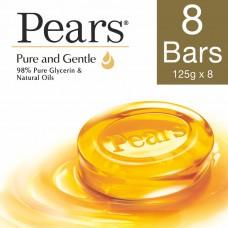 Pears Pure & Gentle Bathing Bar 125 g (Pack of 8)