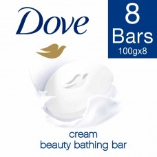 Dove Cream Beauty Bathing Bar 100 g, (Pack of 8)