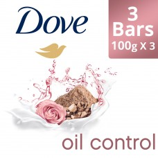 Dove Go Fresh Oil Control Moisturising Soap, 100 g (Pack of 3)