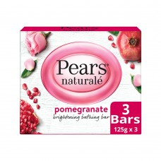 Pears Naturalé Pomegranate Brightening Bathing Soap Bar, 125 g (Pack of 3)