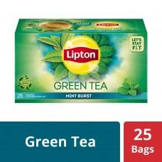 Lipton Mint Burst Green Tea Bags, 25 PC