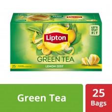 Lipton Lemon Zest Green Tea Bags, 25 PC