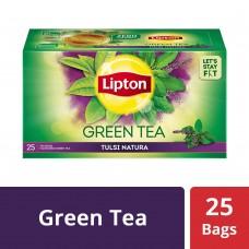 Lipton Tulsi Natura Green Tea Bags, 25 PC